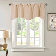 Amazon Com Beige Blackout Valance Curtains Thermal Insulated Kitchen Kids Room Cafe Window Valances Rod Pocket Drapes And Curtains For Bedroom Nursery Living Room Windows 52 X 18 Inch Kitchen Dining
