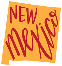 New Mexico State Hand Lettering Sticker