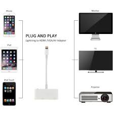 Lightning To VGA Adapter Audio Video Cable for Iphone X 5s 6 6s 7 7 Plus  Ipad for Apple TV Device Usb C To Hdmi Vga Usb C - buy at the