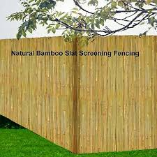 Garden Patio Garden Natural Bamboo Slat Screening Roll Screen Fence Fencing Panel Fence Panels Idealschool Education