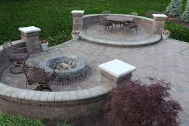 brick patio ideas with fire pit fire