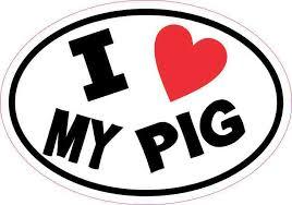 5in X 3 5in Oval I Love My Pig Sticker Vinyl Animal Car Decal Cup Stickers Stickertalk