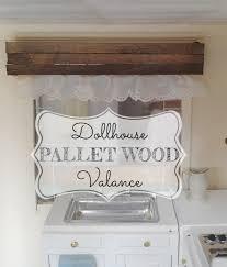dollhouse pallet wood window valance