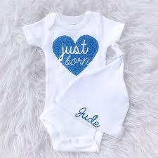 Diy Just Born Sparkle Glitter Custom Newborn Iron On Decal Baby Shower Onesie Baby Onesies Sparkles Glitter