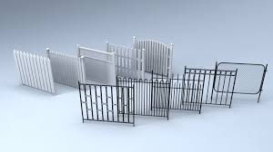 3d Model Game Ready Fences Cgtrader