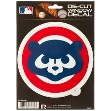 Chicago Cubs 1984 Angry Cub Logo Die Cut Window Decal Clark Street Sports
