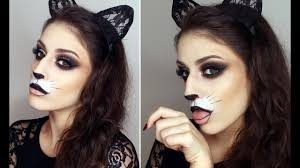 y cat make up for halloween cute
