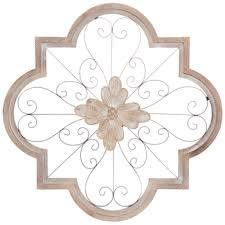 ornate carved flower metal wall decor