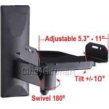 adjustable bookshelf side speaker wall