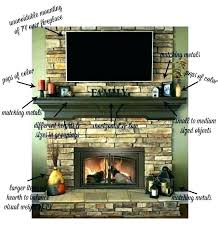 fireplace mantel height with above on