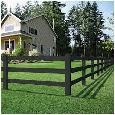 Outdoor Essentials 8 Ft Vinyl Black Ranch Rail Lowes Com In 2020 Post And Rail Fence Outdoor Essentials Vinyl Fence