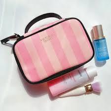 victoria secret makeup bag pink