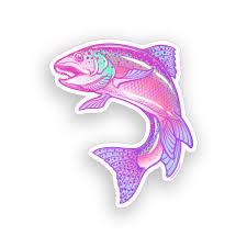 Pink Rainbow Trout Fish Sticker Laptop Cup Cooler Boat Car Window Bumper Decal Decals Stickers Aliexpress
