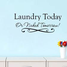 2017 Laundry Today Waterproof Removable Home Decal Living Room Window Wall Stickers Wish