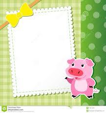 Cerdo Tarjeta Del Bebe Ilustracion Del Vector Ilustracion De