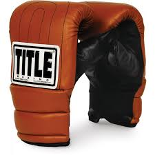 title old school heavy bag gloves