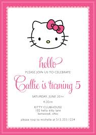 Hello Kitty Party Invitation Custom 15 00 Via Etsy Disenos