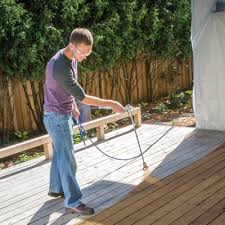 How To Paint Or Stain A Deck Using A Paint Sprayer Graco Homeowner