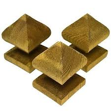 Green Treated 3 75mm Bishop S Finial Fence Post Caps Garden Wooden Fence Top Ebay