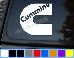 Cummins 7 Dodge Ram Back Window Black White Vinyl Decal Sticker Ebay