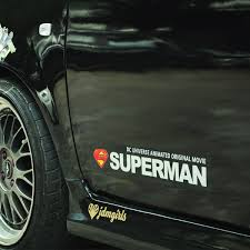 Reflective Superman Scratch Front Rear Windsheild Car Decals Accessory Personalized I Am Superman Car Door Stickers Decoration Car Door Stickers Car Decalsuperman Car Aliexpress