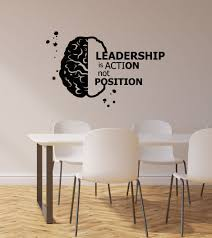 Vinyl Wall Decal Leadership Brain Brainstorm Quote Office Room Business Stickers Mural Ig6135 Wall Vinyl Decor Vinyl Wall Decals Wall Decals
