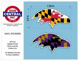 Baltimore Ravens Stickers Car Decals Set Of 2 In Maryland Flag Patterns Ebay