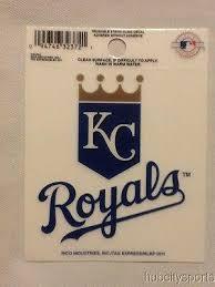 Kansas City Royals Static Cling Sticker Decal New Window Or Car Mlb Hub City Sports
