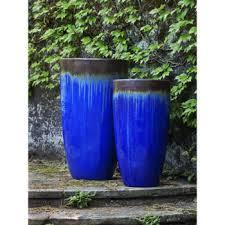 tall ceramic polaris planter bronze