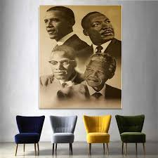 Canvas Print Home Decor Wall Art Modular Pictures Malcolm X Martin Luther King Barack Obama Painting Nordic Poster For Bedroom Painting Calligraphy Aliexpress