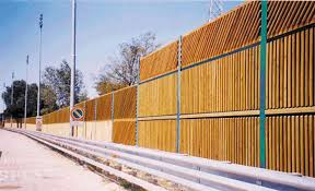 Noise Barrier With Modular Panels Tecnowall Fip Industriale Solid Wood Road