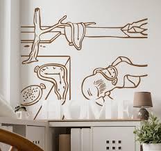 Art Dali Watches Wall Art Sticker Tenstickers
