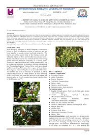 pdf a review on aegle marmelos a