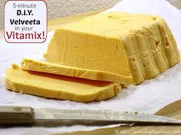 homemade velveeta cheese in a blender