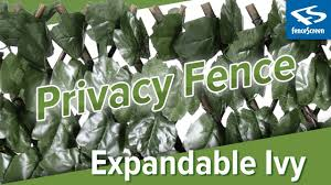 Natrahedge Expandable Faux Ivy Privacy Fence Youtube