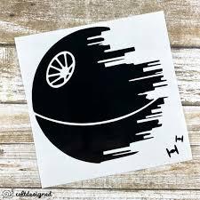 Death Star Vinyl Decal Star Wars Decal Death Star Sticker Etsy