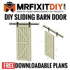 free diy sliding barn door plans mr