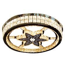 Đèn ốp trần LED pha lê mâm tròn 600×600 Venus HS85212 Khang Dy Venus