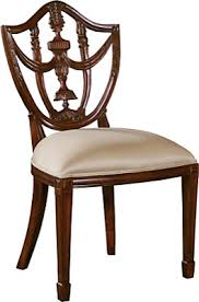 carved hepplewhite shield back chair