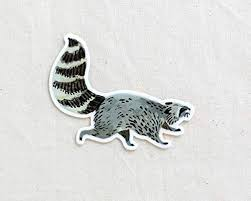 Raccoon Animal Sticker Waterproof Vinyl Sticker Adventure Sticker Camping And Hiking Gear Water Bottle Decal Car Decal Shefinds