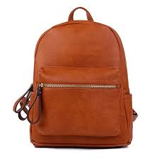 brown faux leather backpack com