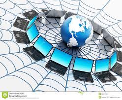 Réseau Informatique Global Avec Une Toile D'araignée Illustration ...
