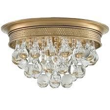 antique brass flush mount ceiling light