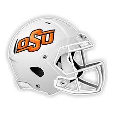 Oklahoma State Cowboys White Helmet Vinyl Die Cut Decal St