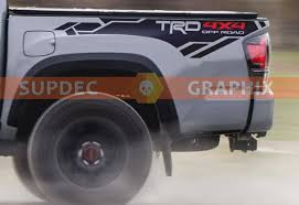 Trd 4x4 Pro Sport Off Road Bed Side Vinyl Stickers Decal Fit To Tacoma 13 19 Or Tundra 13 19