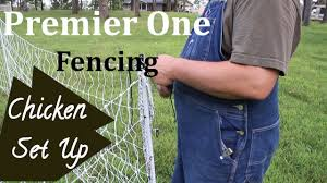 Premier One Fencing Unboxing Small Farm Sets Up Chickens Chicken Waterer Youtube