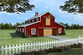 barn design with apartment floor plan
