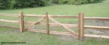 Hoover Fence Wood Split Rail Gates Western Red Cedar W Steel Frames Hoover Fence Co
