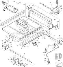 Dewalt Jobsite Table Saw Dw744 Ereplacementparts Com