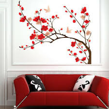Red Pink Blossom Tree Wall Decal Sticker Ws 44983 Ebay